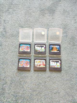 lote 6 juegos Game gear