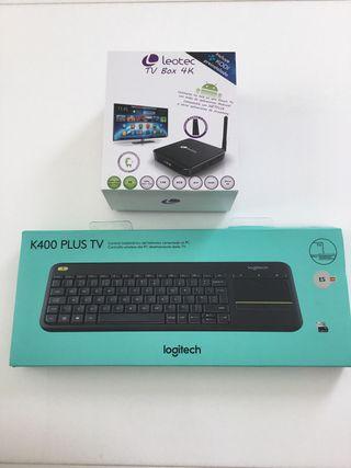Teclado k400 plus tv -android tv box 4K lecotec