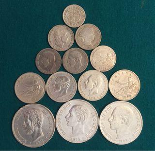 Lote monedas de Plata gran oferta