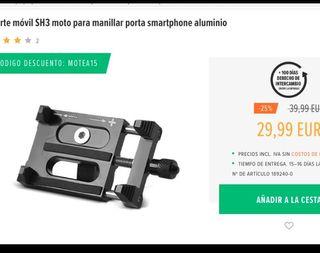 Soporte móvil moto para manillar porta smartphone
