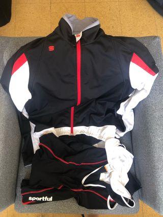Sportful chaqueta y culotte ciclismo
