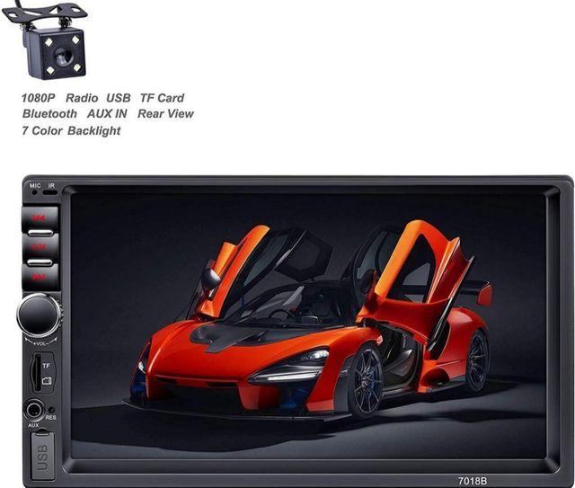 Radio coche 2 DIN de 7 Pulgadas HD Pantalla Táctil
