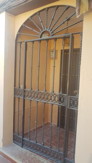 Puerta de hierro entrada