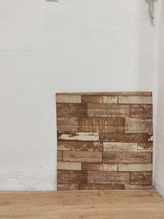 Revestimiento pared 3D imitación madera