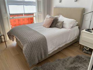 King size divan bed & headboard
