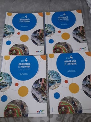 libros de geografía e historia de 4° ESO