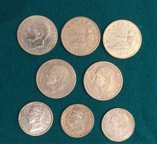 8 Monedas de Plata