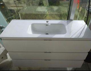 Mueble baño 120 cm sin lavabo nuevo
