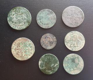 Lote monedas Españolas Siglo 19