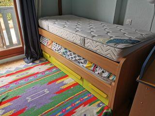 cama nido con cajones niños