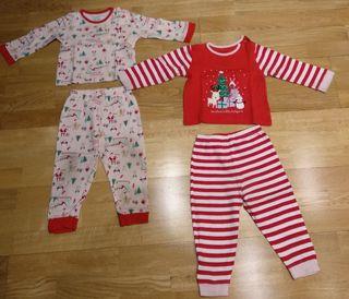 Lote pijamas navidad 12-18 meses