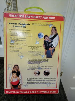Mochila porta bebe sin estrenar