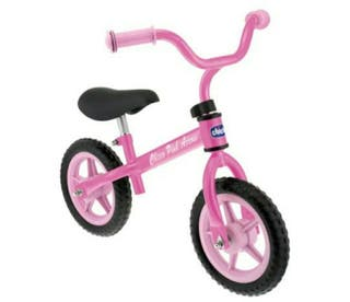 bicicleta marca CHICCO sin pedales rosa