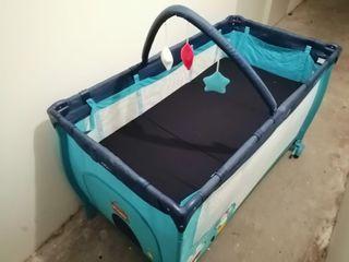 Cuna de viaje + colchón plegable