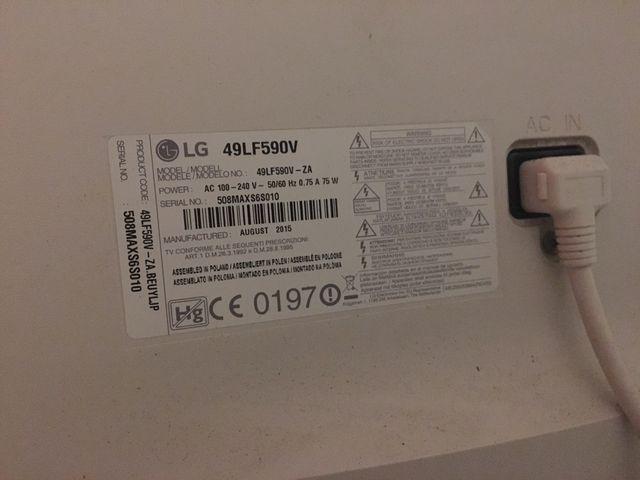 Televisión LG smart tv 49'
