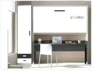Cama abatible con escritorio extraíble y armario*s