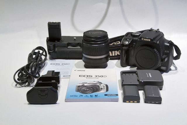 Canon EOS 350D + Objetivo Canon 18-55 mm.