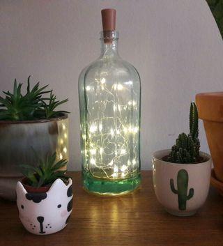 Antigua botella vintage luz ambiente
