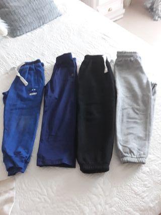 Lote 4 pantalones chandals niño T.4-5años