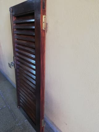 Persianas, ventanas, balcones de madera