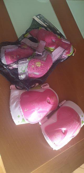 Patines linea niña con bolsa y protecciones