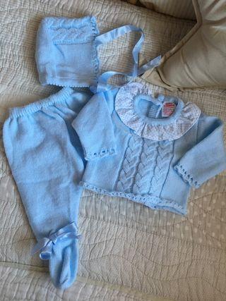 3x2! Conjunto polaina, jersey y capota bebé 1 mes