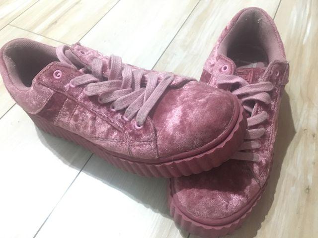 Zapatillas rosas de terciopelo