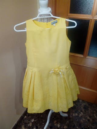 Traje de vestir niña. Vestido niña marca TIZAS.