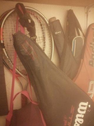 raquetas de tenis y fundas