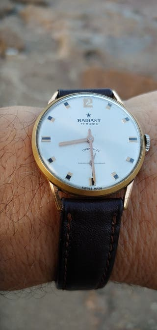 Antiguo Reloj Suizo original de cuerda años 50.