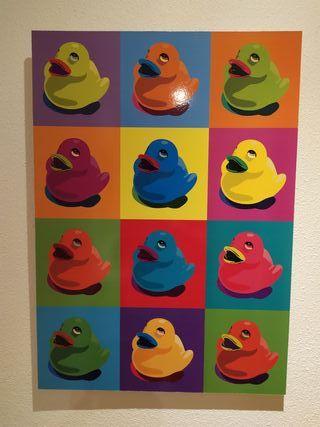 Cuadro patos estilo Warhol