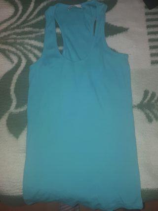 camiseta tirantes azul claro talla L