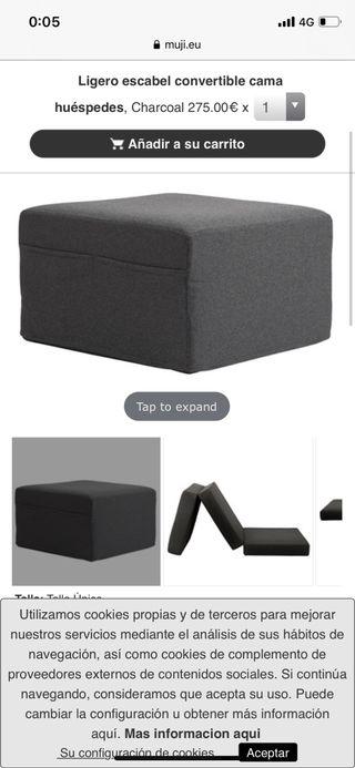 Puff muji ( convertible en cama )