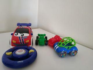 Varios juguetes bebe coches