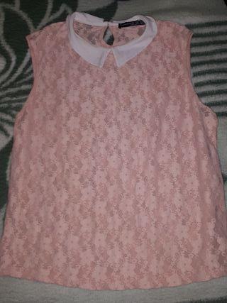 camiseta blusa sin mangas rosa talla 44 talla L