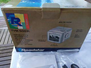 Televisor analogico+radio, portatil nuevo antiguo
