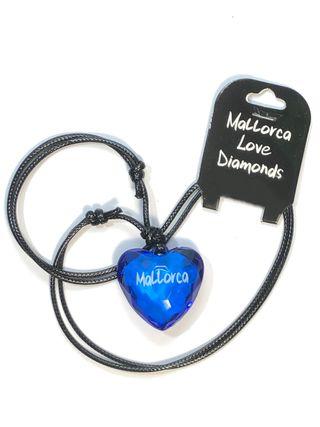 Collar Colgante Corazon Mallorca Azul
