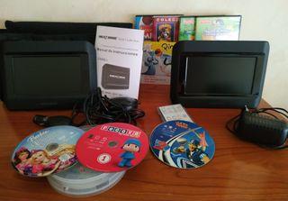 Reproductor DVD portátil para vehículo con doble