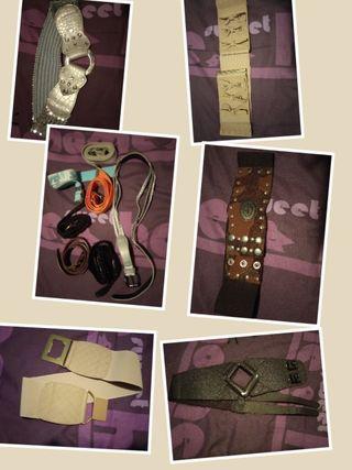 Lote cinturones mujer