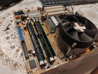 Vendo Placa base, procesador, RAM y disipador 20€