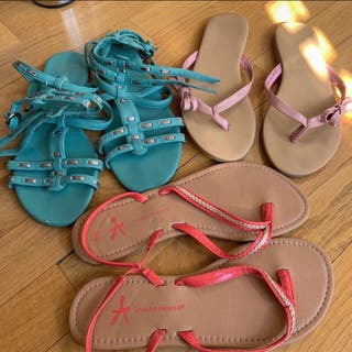 Pack tres pares de sandalias