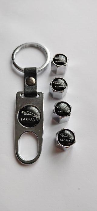 Jaguar tapones válvulas neumáticos con llavero