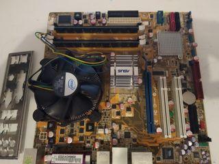 Placa base + Procesador Core2Duo + Memoria
