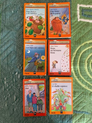 6 Libros barco de vapor serie naranja