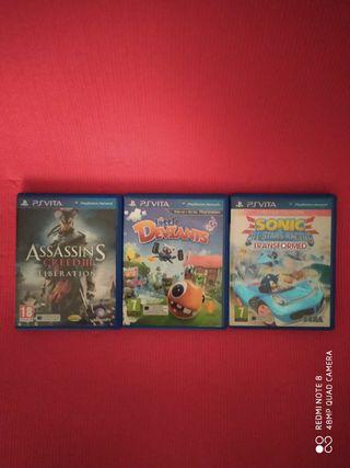Pack de 3 juegos originales PS Vita Sony