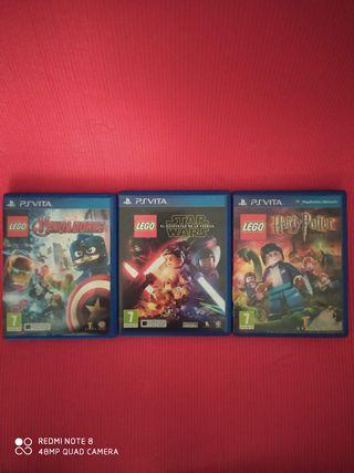 Pack de 3 Videojuegos Sony PS Vita originales
