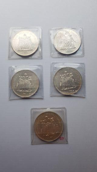 Lote Inversión plata Francos Franceses