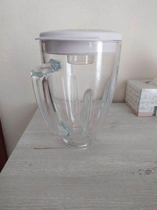 vaso de vidrio y tapa de batidora Oster