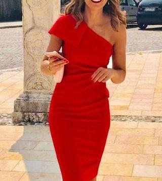 Vestido boda / fiesta Rojo Talla L