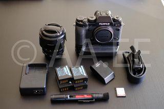Fujifilm XT1 + Fujinon 18-55mm + accesorios + rega